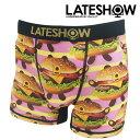 樂天商城 - LATESHOW レイトショー Burger bear(PNK) ボクサーパンツ メンズ ブランド 正規品 下着 パンツ インナー ローライズ 誕生日 プレゼント ギフト ラッピング 無料 ^^ 彼氏 父 男性 旦那 大人