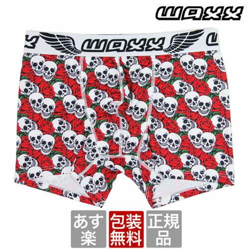 送料無料 WAXX LOVE TO DEATH レッド ワックス ボクサーパンツ メンズ ブランド 正規品 下着 パンツ インナー ローライズ 誕生日 プレゼント ギフト ラッピング 無料 ^^ 彼氏 父 男性 旦那 大人
