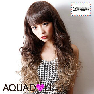 Wig long extension plus impact グラデカラー heat フルウィッグ wig wig gradient natural extensions wig WIG with Internet postage cosplay sale SALE AQUADOLL アクアドール