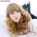 With the wig extension free shipping net [feminine MIX curl medium ][wg024] heat resistance full wig wig WIG extension Christmas present % OFF sale SALE AQUADOLL aqua Dole]