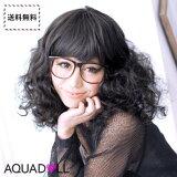 ウィッグ フルウィッグ [ポップン スパイラルカール][wg010] ウイッグ ボブ wig エクステ 耐熱 フルウイッグ エクステンション 結婚式 AQUADOLL アクアドール||