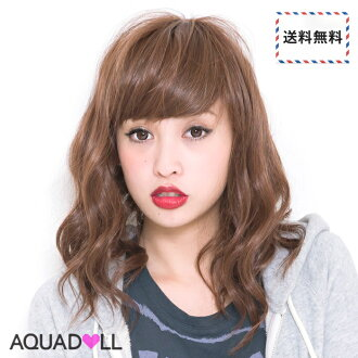 Wigs Extensions AQUADOLL | Soft Wave Semi medium wig [wg067]