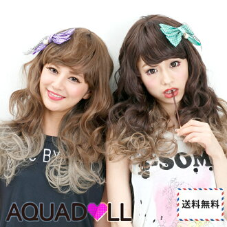 Wigs Extensions AQUADOLL | Positive impact gradient color medium wig [wg102]