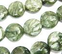 天然石ビーズ セラフィナイトコイン型12×12×6 1粒売り