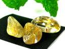 天然石ビーズ ルチルクォーツタンブルチップAA 10〜20mm/1個