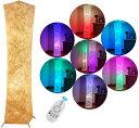 フロアランプ 和室 照明器具 間接照明 スタンド照明 スタンドライト スタンド リビング シンプル 和風 高さ132cm 北欧 リモコン操作で調光・調色 純和風テイスト(26cm×132cm+2個のLED RGB電球) LVYUAN(リョクエン)