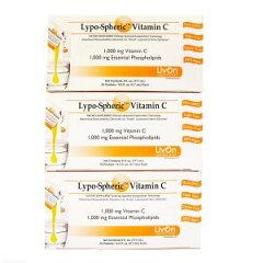 【12月18日発送】3箱セット リポスフェリック ビタミンC (30包x3)LivOn社推奨 リポソームビタミンC サプリメント