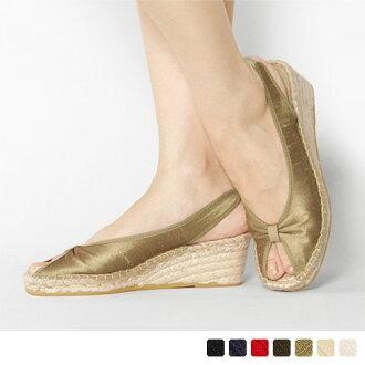 Calzanor - カルザノール - Cotton satin Bax strap sandals ☆ ☆ ◇ ◇