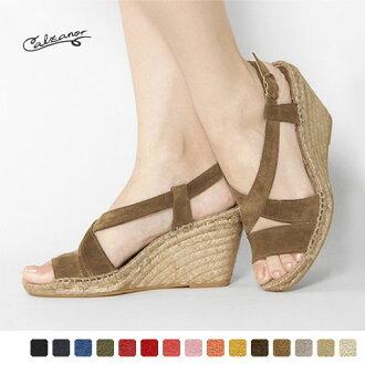 Calzanor - カルザノール - suede cross strap sandals ☆ ☆ ◇ ◇