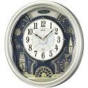 【送料無料】 電波掛け時計 SEIKO製 からくり時計 アナログ RE561H