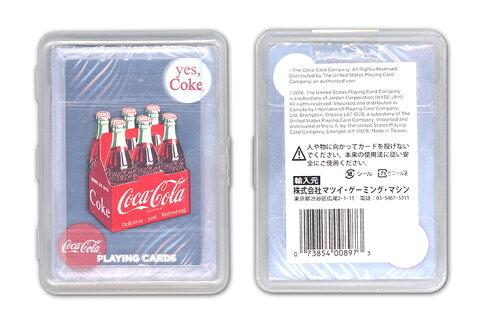 【トランプ】 COCA COLA BOTTLE CARRIER CLEAR PLAYING CARDS≪ コカ・コーラ ボトルキャリア クリアトランプ ≫