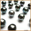 素晴らしい干渉色 黒蝶真珠 無穴ルース (裸石)  玉通しチェーン用1.5mm穴あけ特別加工付