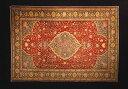 金色に輝くウールに草木染め。豪華絢爛アンティーク絨毯。豪華絢爛、美しいアンティーク最高品質の輝きにあふれて!トルコ カイセリ じゅうたん カリヨラサイズ