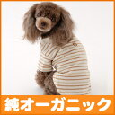 It is dogware of the organic cotton the clothes [three colors of horizontal stripe short-sleeved T-shirts] of the dog (clothes of 1-3, the small dog)