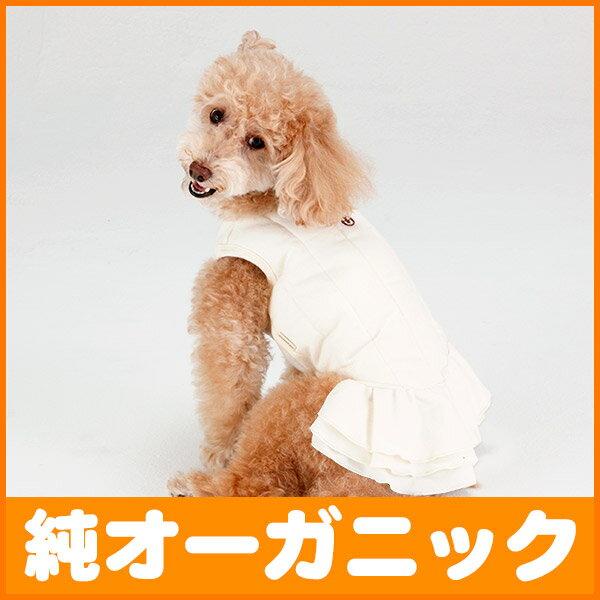 犬 服 中綿入りネル ノースリーブ ワンピース 1-3号