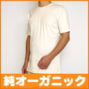 Men's underwear [fraise raising short sleeves T-shirt] [unbleached ]men's inner underwear organic cotton cotton, T-shirt]