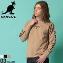 カンゴール Tシャツ KANGOL ロンT 綿100% ロゴ刺繍×アームプリント クルーネック 長袖 Tシャツメンズ 男性 トップス シャツ Tシャツ クルー 長袖 プリント 刺繍 コットン プリントT スポーティー KANGOLLT01