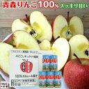 葉とらず りんごジュース 青森産 青研 195g 30本 2ケース ストレート100%果汁 無添加 リンゴジュース 送料無料 母の日 父の日