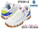 ショッピング厚底 サンダル ケースイス【K-SWISS】ST529 LE 96182 レディース ダッドスニーカー White/D.Blue/V.Orangeミッドカット/ダッドシューズ/紐靴/ウッディーズ/2002年/復刻/厚底/ホワイト【50%OFF】