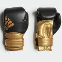 adidas アディダス ニュー ハイブリッド 300 ボクシンググローブ 最高級本革 ブラック・ゴールド ADIH300//アディダス ボクシング スパーリング エムワールド mworld