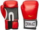 EVERLAST ボクシンググローブ マジックテープ式 (レッド、16oz) //エバーラスト キックボクシング ボクササイズ マジックテープ スパ..