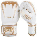 VENUM ボクシンググローブ GIANT 3.0 / Giant 3.0 Boxing Gloves (ホワイト×ゴールド)//スパーリンググローブ ボクシング キックボクシング 本革 送料無料