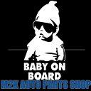 Baby on Board 赤ちゃんが乗っています ヘラフラ 反射 ステッカー ちょいワル キッズ サングラス スタンス 1枚 送料無料 BIGサイズ ポ..