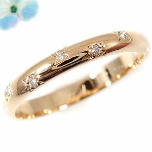 ダイヤモンド リング エンゲージリング 婚約指輪 ピンキーリング ピンクゴールドK18 18金  【送料無料】ピンキーリングダイヤリングピンクゴールドK18  通販 ネット限定販売 ローズゴールド プレゼントとして