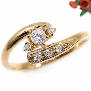 【送料無料】婚約指輪 エンゲージリング ダイヤモンド 婚約指輪;リング;ピンクゴールドK18 指輪 ダイヤモンド 0.15ct K18PG レディース ブライダルジュエリー ウエディング ダイヤモンド ダイヤモンドリング 18金 18k  自分へのご褒美 記念日や誕生日プレゼントにお勧め ダイヤモンドリング ダイヤリングステディリングとしても 通販 ネット限定販売 ローズゴールド プレゼントとして