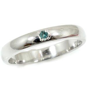 【送料無料】メンズ ブルーダイヤモンド ピンキーリング 一粒ダイヤ0.02ct 指輪 ホワイトゴールドk18 ギフト 男性用 18金 18k  ベストアクセサリー オリジナルジュエリーpinkyリング  通販 ネット限定販売 プレゼントとして