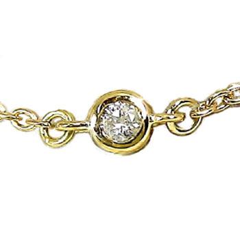 ダイヤモンド アンクレット イエローゴールドK18 ダイヤモ 0.05ct レディース ゴールド 18金 18k【送料無料】 【送料無料】ダイヤモンドアンクレットk18:4月の誕生石 通販 ネット限定販売 プレゼントとして【贅沢】