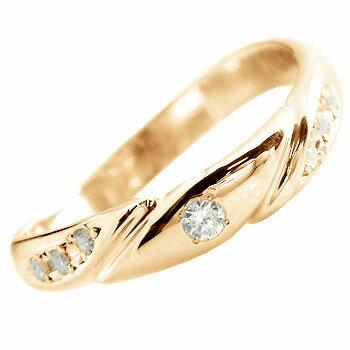 【送料無料】ダイヤモンド リング 指輪 ピンキーリング ダイヤ 指輪 ピンクゴールドk18 レディース 人気 シンプル k18pg ゴールド ダイヤモンドリング 18金 18k ファッションリング  指輪 毎日身に着けられる ダイヤモンドシンプルリング  通販 ネット限定販売 ローズゴールド プレゼントとして?薄い