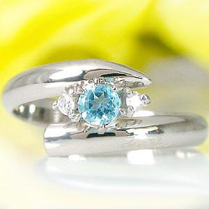 トパーズ 指輪 ピンキーリングブルートパーズリングダイヤモンド ホワイトゴールドk18 ダイヤ 18金 11月誕生石 ストレート 2.3 【送料無料】ダイヤモンド ブルートパーズK18指輪 小指用にも  通販 ネット限定販売 プレゼントとして