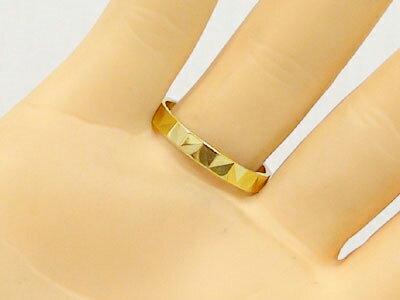 ゴールドk10 ダイヤカット加工 ペアリング ...の紹介画像3
