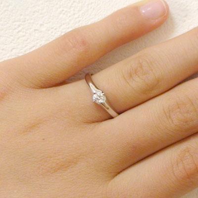 婚約指輪 プラチナ エンゲージリング ダイヤモ...の紹介画像2