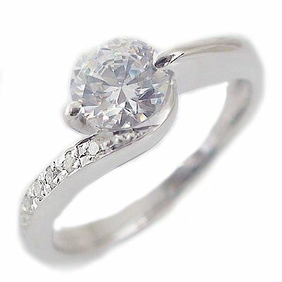婚約指輪 エンゲージリング ダイヤモンド 1.0ct D VS1 Exellent 鑑定書付 大粒 ダイヤモンドリング 1カラット プラチナ900 PT900 ダイヤ1ct 指輪【送料無料】