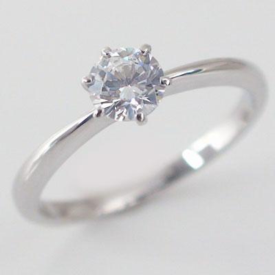 婚約指輪:プラチナ/プロポーズ 高品質ダイヤモンド 妻 彼女 プロポーズ プレゼント エンゲージリング:ダイヤモンド0.4ct/F-VVS1-Excellent:鑑定書付/6本爪:立爪:ダイヤリングPt900  ブライダル【送料無料】 婚約指輪(エンゲージリング)0.4ct:Fカラー,VVS1,Excellent:鑑定書付:6本爪:立爪:ダイヤリング ブライダル 贈り物プレゼントにおすすめシンボリック