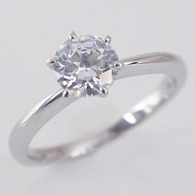 婚約指輪 エンゲージリング ダイヤモンド 1.0ct D VS1 Excellent 鑑定書付 大粒 ダイヤモンドリング 1カラット プラチナ900 PT900 ダイヤ 1ct 6本爪 立爪 指輪【送料無料】