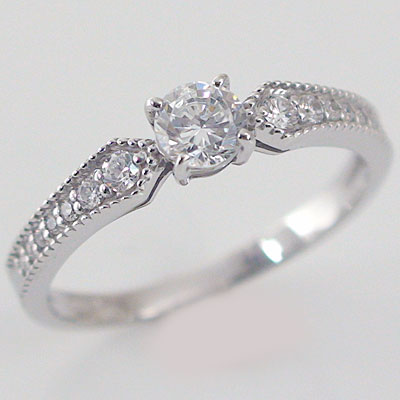 婚約指輪:エンゲージリング:ダイヤモンド:0.3ct/D-VS1-EX:鑑定書付:指輪:プラチナ900:脇ダイヤ0.14ct/PT900ダイヤ指輪【送料無料】 婚約指輪(エンゲージリング)0.3ct/D-VS1-EX:鑑定書付ダイヤモンドリング:プラチナ900