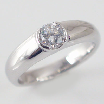 婚約指輪:プラチナ/エンゲージリング:ダイヤモンド0.5ct/D-VS1-EX:鑑定書付/ダイヤリングPt900【送料無料】 婚約指輪(エンゲージリング)0.5ct:Dカラー,VS1,EX【エクセレント】の鑑定書付ダイヤリング