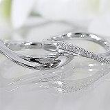 結婚指輪,マリッジリング,ペアリング:ホワイトゴールドk10/ダイヤモンド【】結婚指輪:ペアリング:マリッジリング:ホワイトゴールド/ダイヤモンドリング:ペア2本セット/K10WG