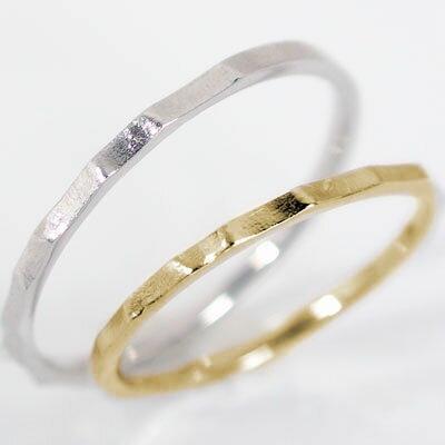 結婚指輪:ペアリング:マリッジリング:イエローゴールド/ホワイトゴールドk18:ペア2本セット/K18指輪 ペアリング:結婚指輪,マリッジリング,イエローゴールド/ホワイトゴールドk18(2本セット)重ね着けに最適 ブライダル,贈り物におすすめ【送料無料】