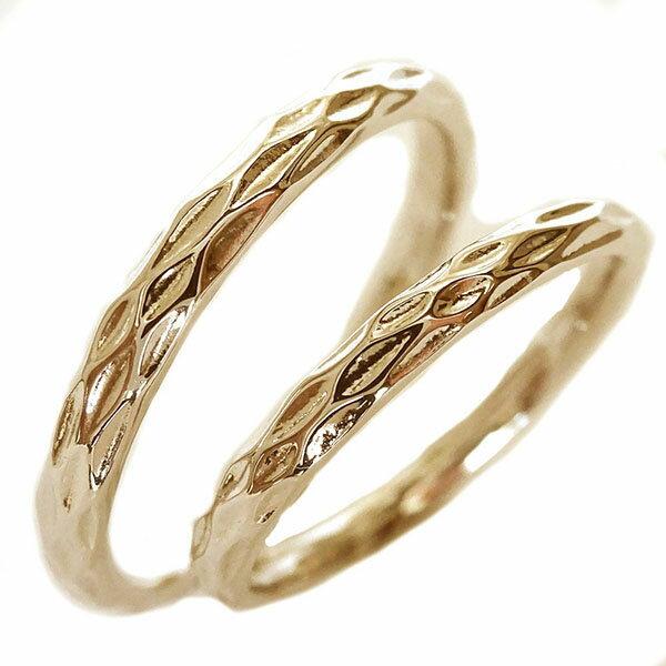 ペアリング ピンクゴールドk10 ペア2本セット 結婚指輪 マリッジリング K10pg【送料無料】 2人の絆を深めるペアリング ピンクゴールドk10 結婚指輪 マリッジリング 全周に模様