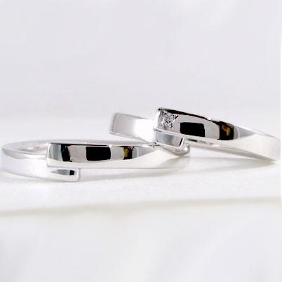 結婚指輪:ペアリング:マリッジリング:ホワイトゴールドk10:ペア2本セット:ダイヤモンド/K10wg指輪ダイヤ0.01ct 結婚指輪,マリッジリング,ペア2本セット:ホワイトゴールドk10:ペアリング:ダイヤモンド【送料無料】ユニーク