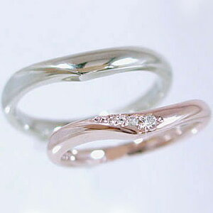 マリッジリング ゴールド ホワイト ダイヤモンド