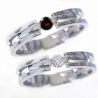 :結婚指輪:マリッジリング:ペアリングダイヤモンド/ブラックダイヤ:ホワイトゴールドk18:指輪:ペア2本セット/K18wg指輪ダイヤ0.10ct/ブラックダイヤ0.10ct 結婚指輪,マリッジリング:ペアリング(2本セット)ホワイトゴールドk18【送料無料】【ユニークな形状】