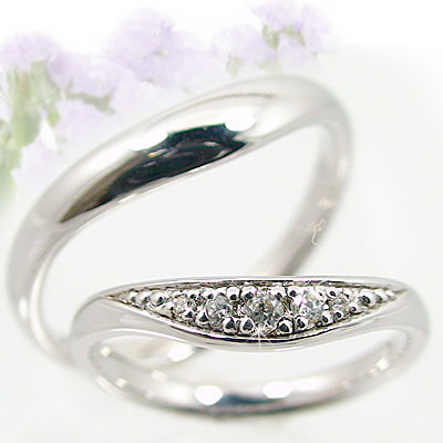 結婚指輪:ペアリング:ホワイトゴールドk18:マリッジリング:V字ライン:ペア2本セット:ダイヤモンドリング/K18wg指輪ダイヤ0.05ct 送料無料!結婚指輪,マリッジリング,ホワイトゴールドk18:マリッジリング:V字ライン:ペア2本セット:ダイヤモンドリング/K18wg指輪ダイヤ0.05ct LOVEラブカップルに佳作
