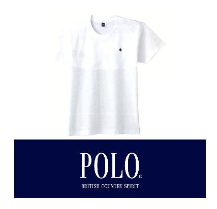 【メール便可】GUNZE(グンゼ)POLO(ポロ)紳士クルーネック Tシャツ  M/L/LL