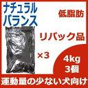 10月25日の入荷です。リパック品 ナチュラルバランス オリジナル ウルトラ リデュースカロリー ドッグフード 12kg(4kg×3袋) 《DOG》