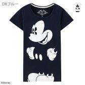 【LoveT限定特別価格】L【レディース】Disney ディズニー ミッキーマウスチュニック半袖Tシャツ6283-3008【05P28Sep16】